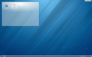 the initial look of Fedora 18 KDE edition